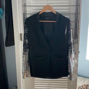 Black Sequin Holiday Blazer